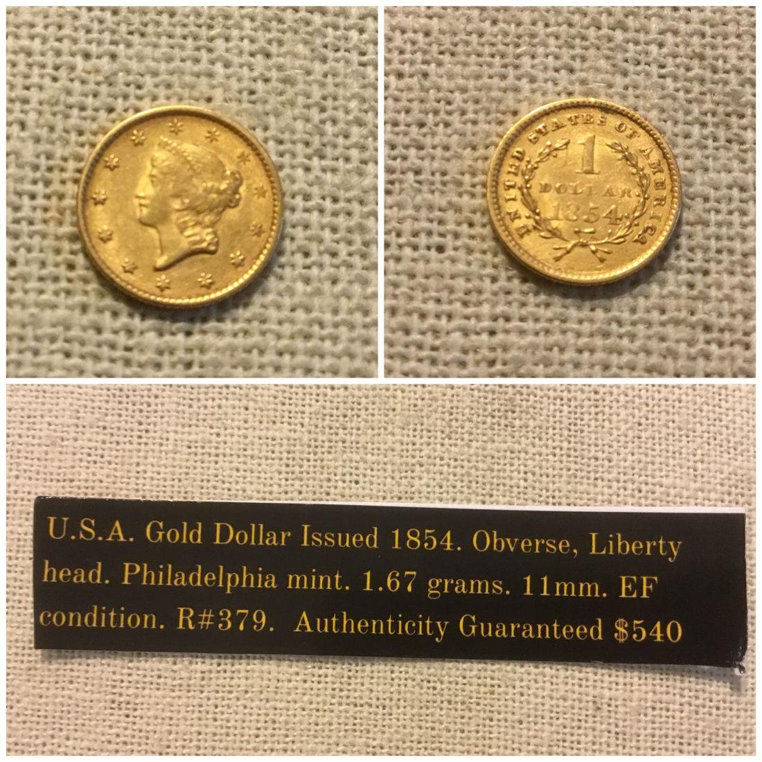 United States gold dollar. 1854. - 2