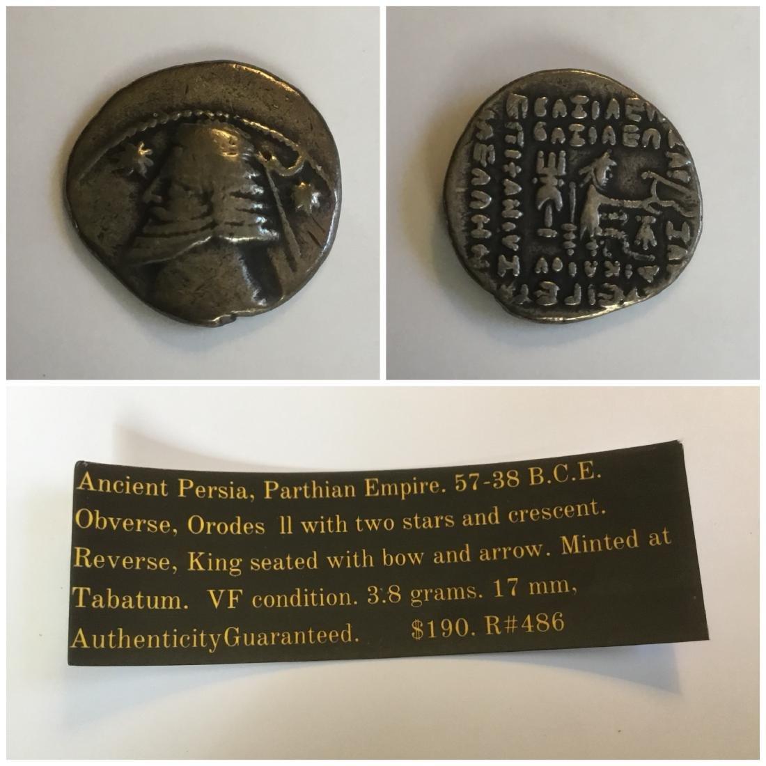 Parthia. 57-38 BC. Orodes ll. Silver drachma. - 2