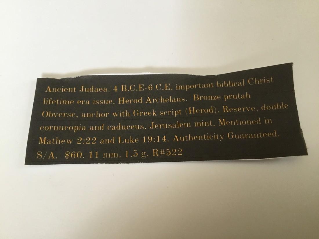 Ancient Judaea 4 BCE- 6 CE. Herod Archelaus - 3