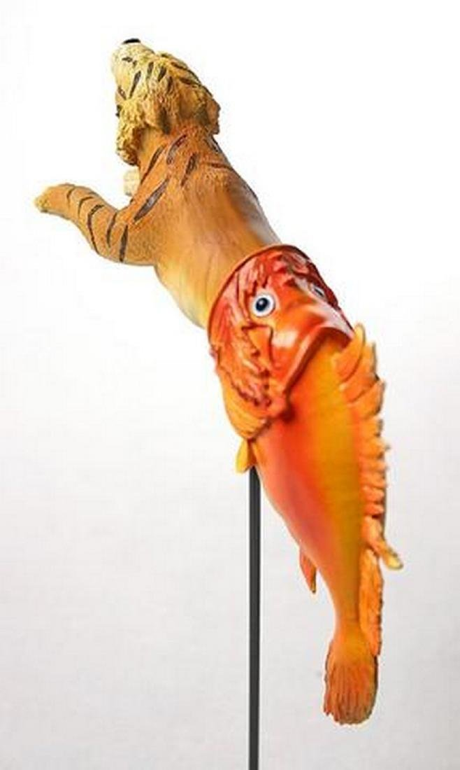 After Salvador Dali: Tiger emerging from fish Statue - 2
