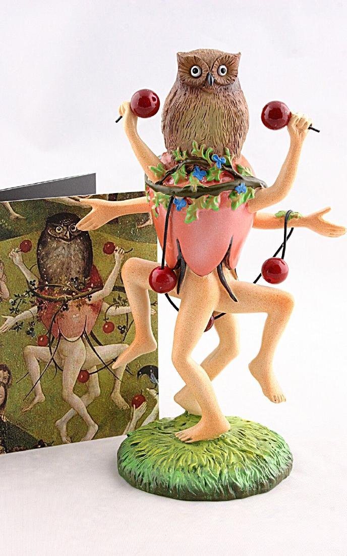 After Jheronimus Bosch: Dancers with Owl statue - 4