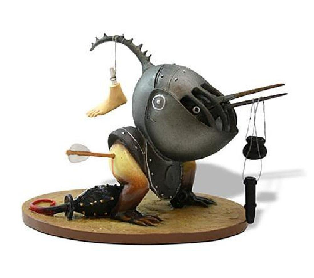 After Jheronimus Bosch: Helmeted Bird Monster statue