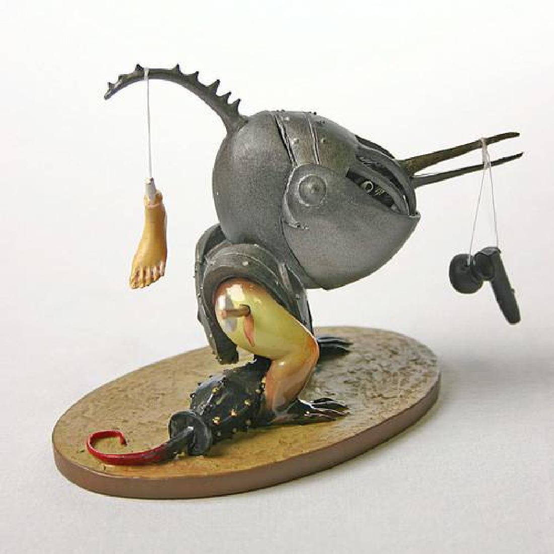 After Jheronimus Bosch: Helmeted Bird Monster statue - 2