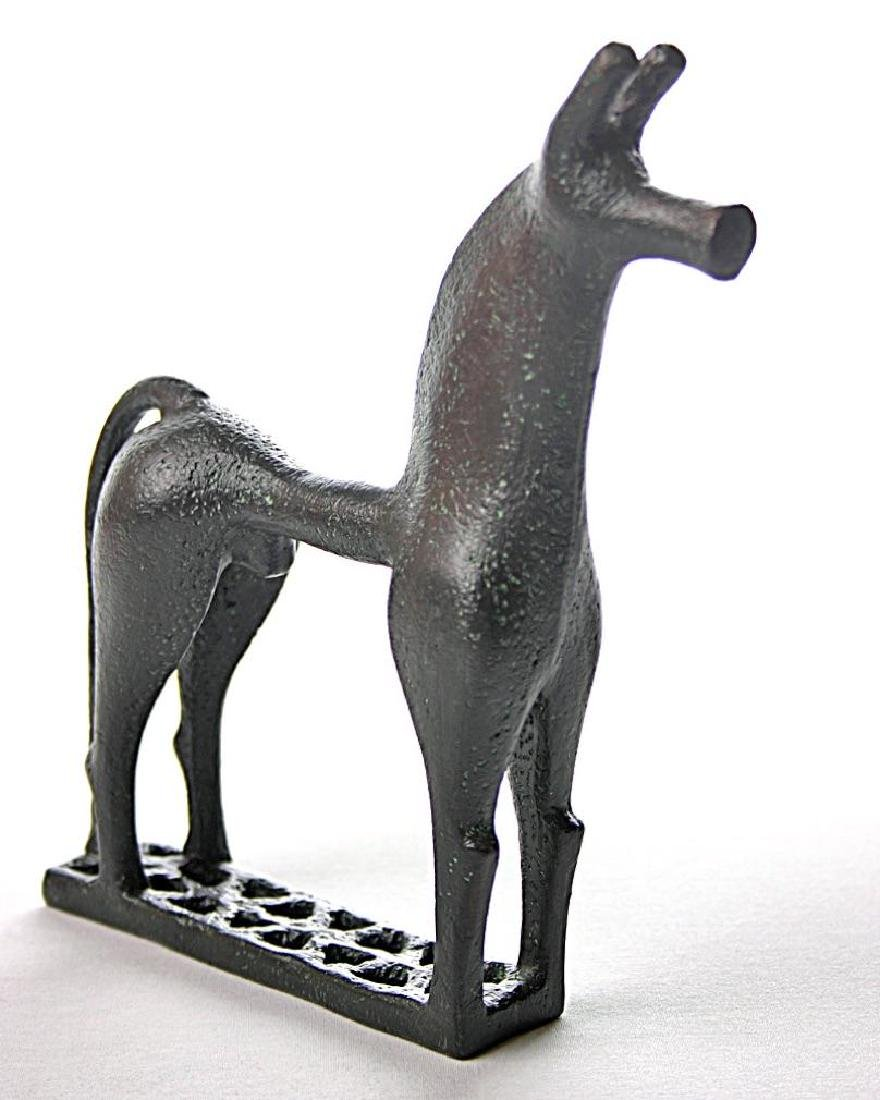 Greek Art: Greek Geometric Horse Statue - 3