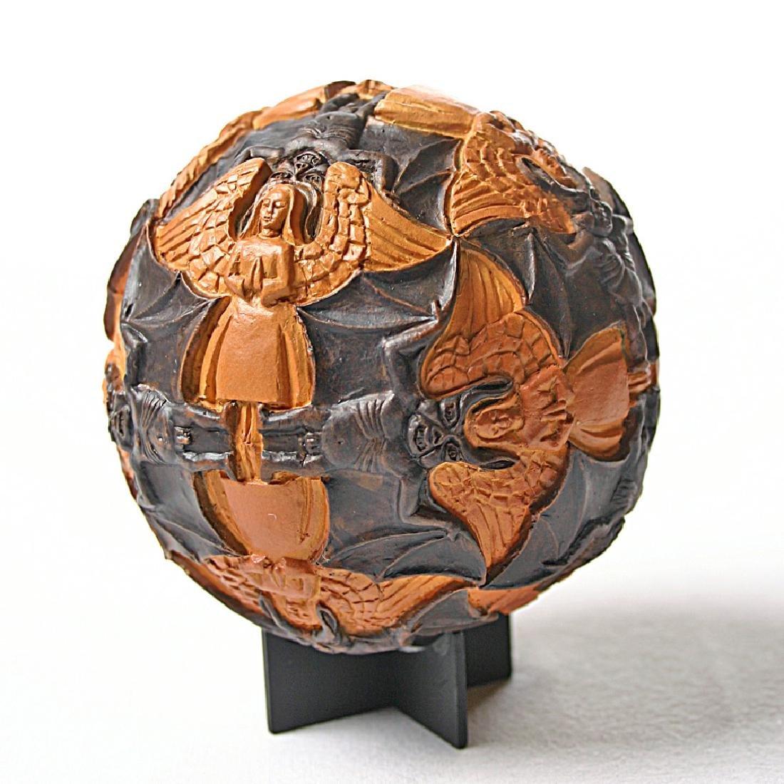 After Maurits Escher: Sphere Angels & Devils Statue