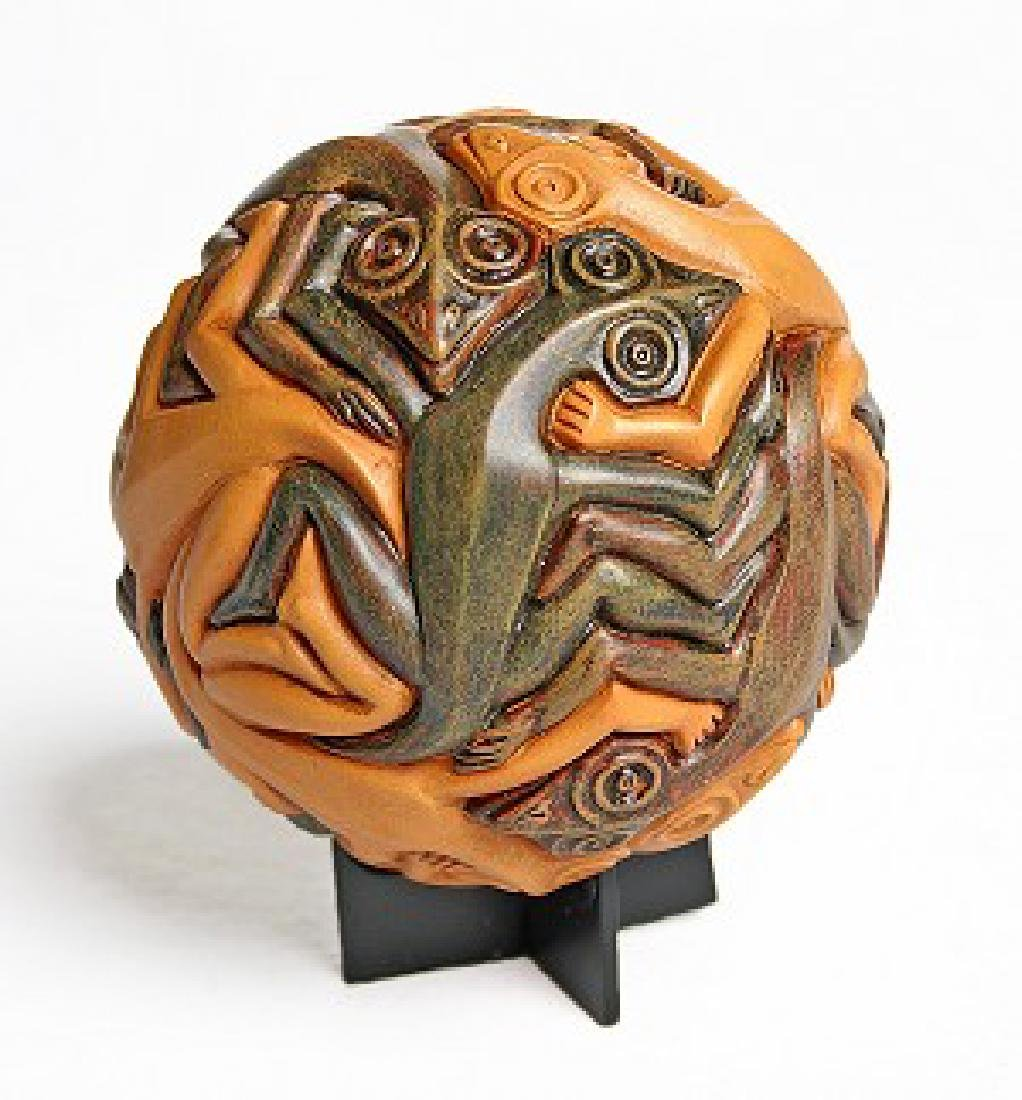 After Maurits Escher: Sphere with Reptiles Statue - 2