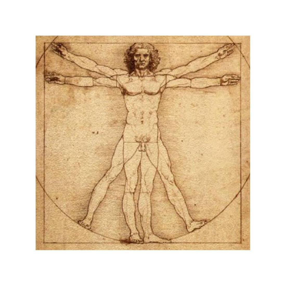 After Leonardo da Vinci: Vitruvian Man White Statue - 3