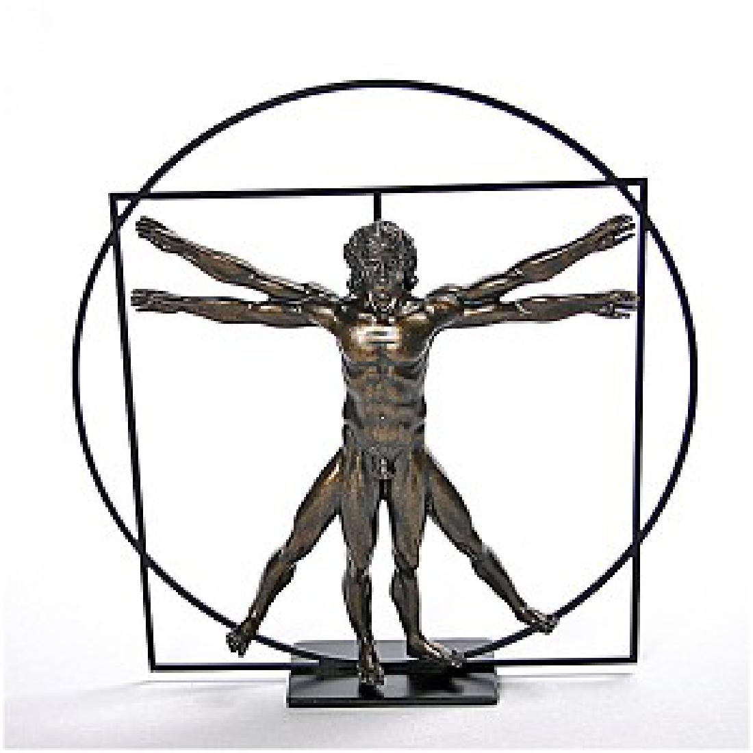 After Leonardo da Vinci: Vitruvian Man Dark Statue - 2