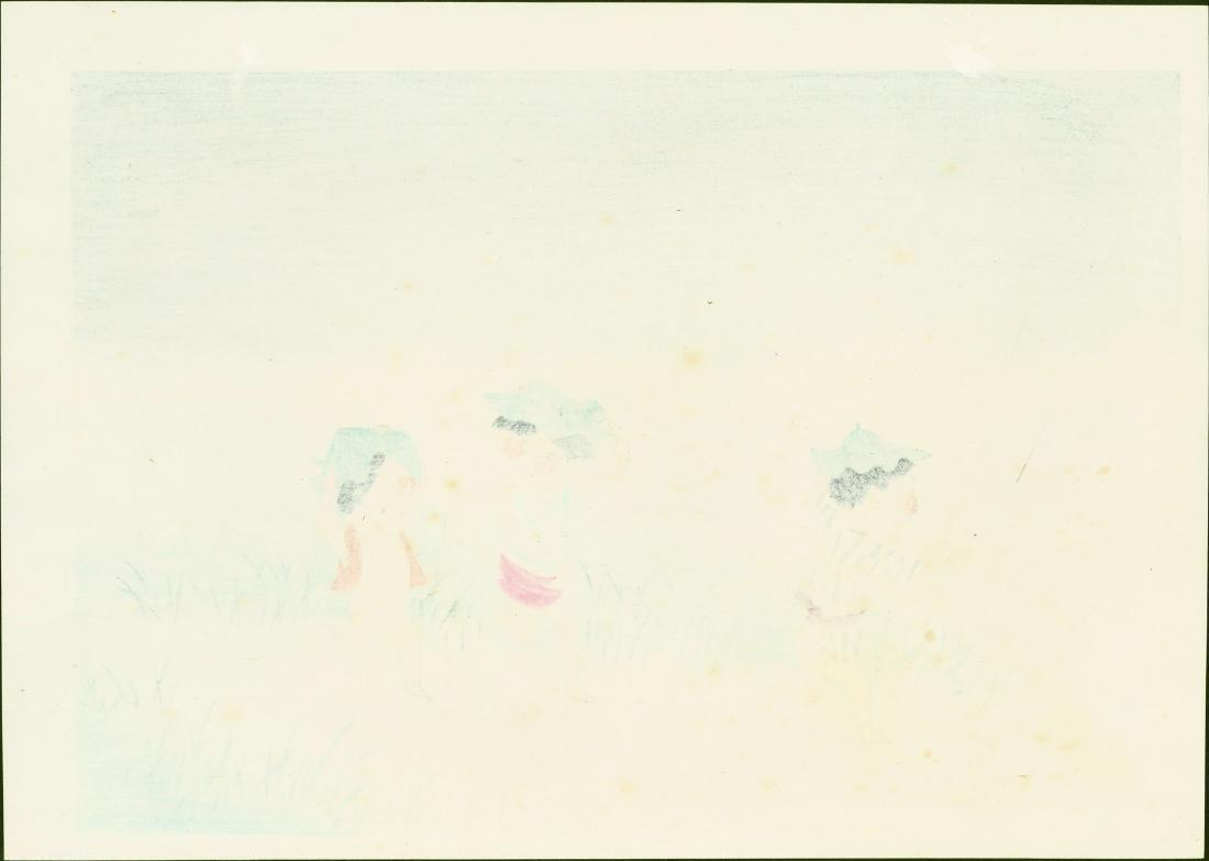 Hitoshi Kiyohara Woodblock Thunderstorm - 2