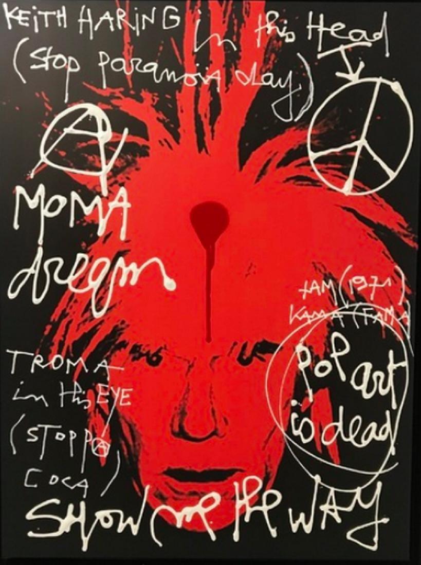 Kokian, ANDY (Keith Haring in his head) - 2017 Acrylic
