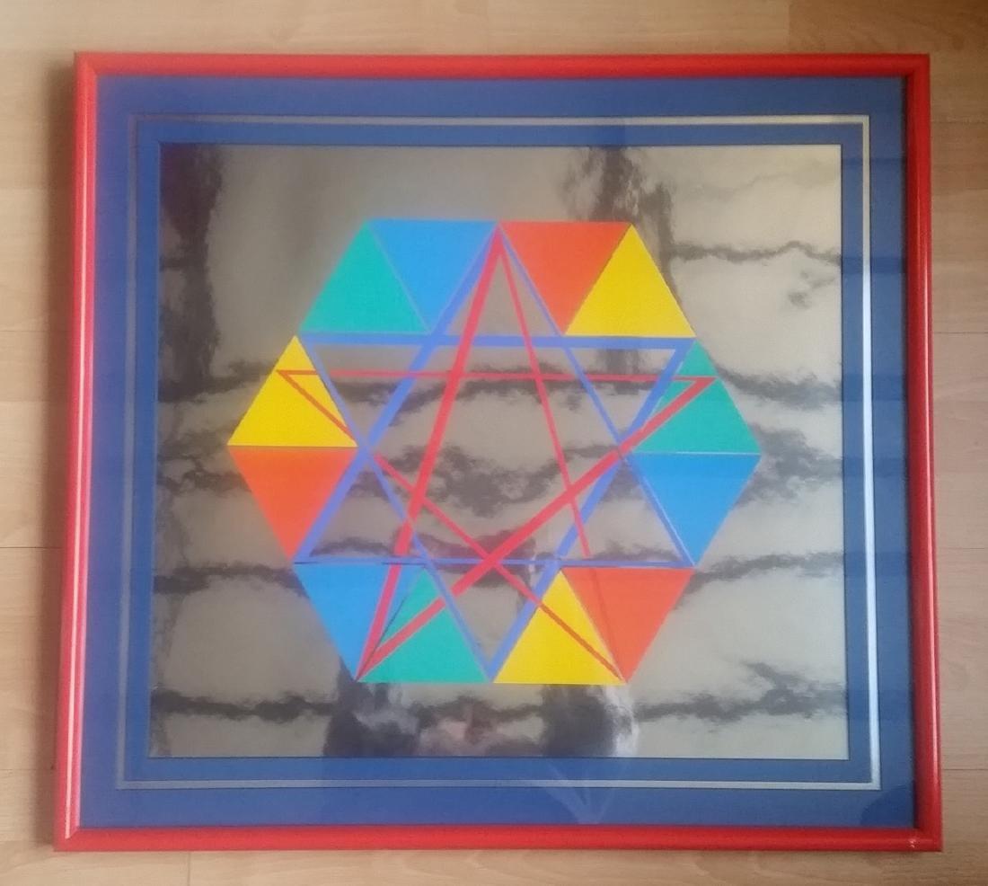 Yaacov Agam - Star of David - Abstract Illusionism -