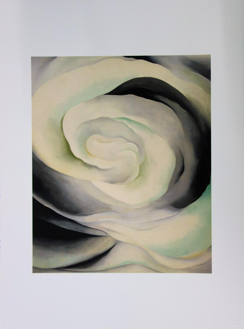 Georgia O'KEEFFE (after) - Pink white abstraction,