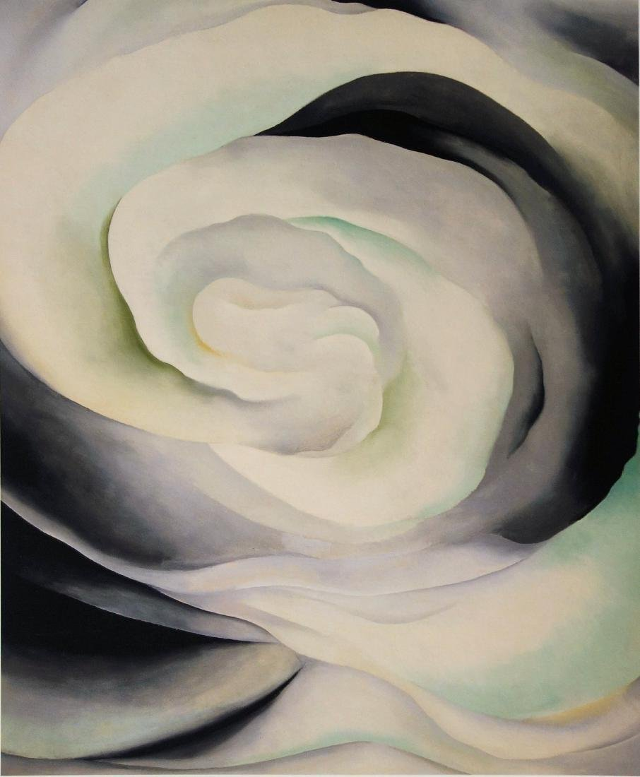 Georgia O'KEEFFE (after) - Pink white abstraction, - 2