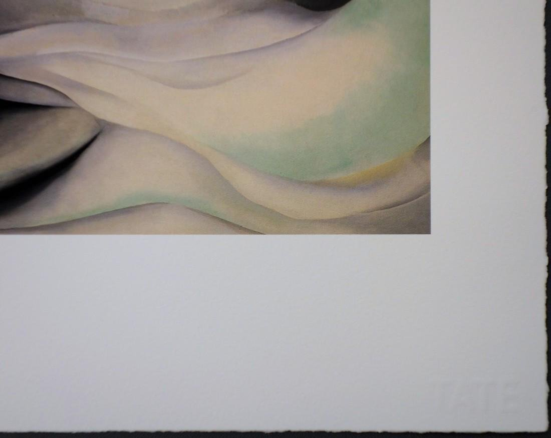 Georgia O'KEEFFE (after) - Pink white abstraction, - 4