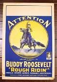 ROUGH RIDIN' '24 SILENT FILM WINDOW CARD RARE BUDDY