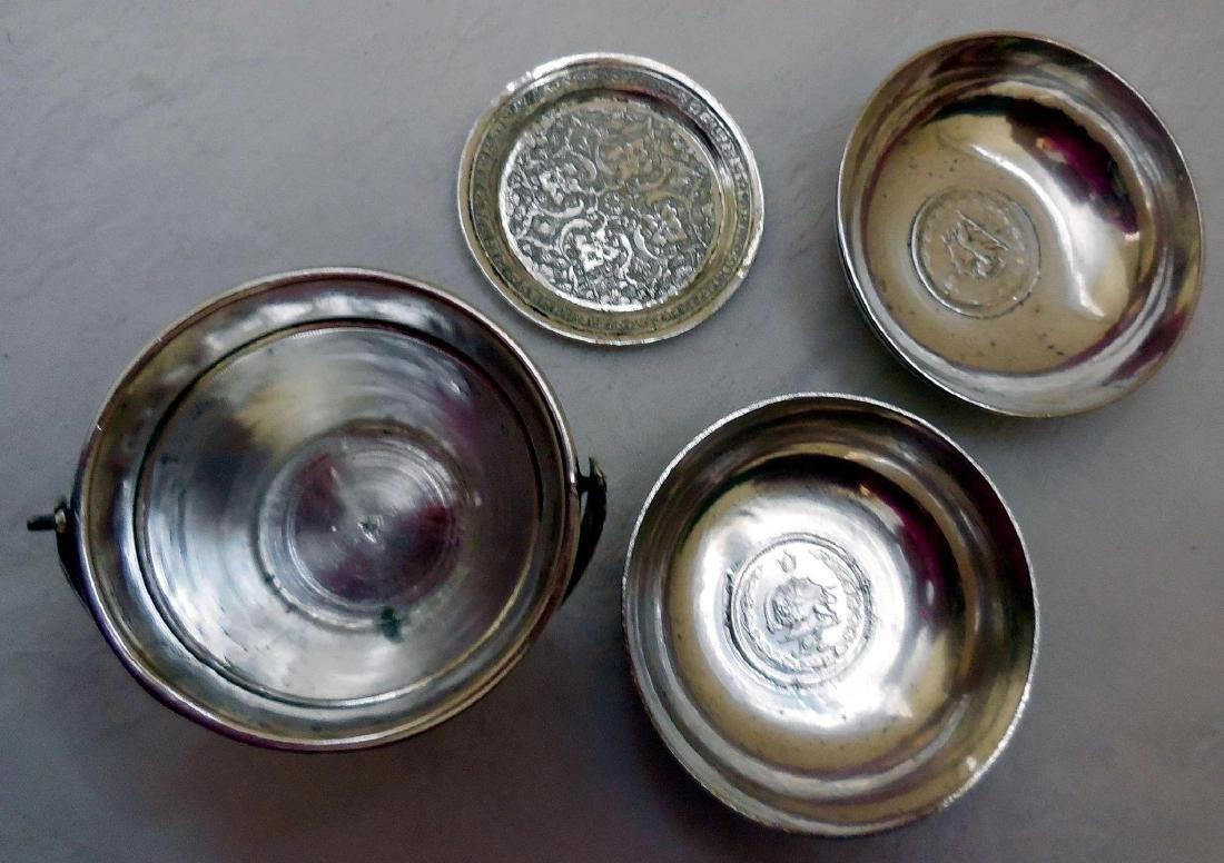 Antique Persian Silver Smoking Set - 3
