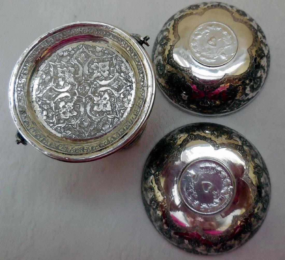 Antique Persian Silver Smoking Set - 8