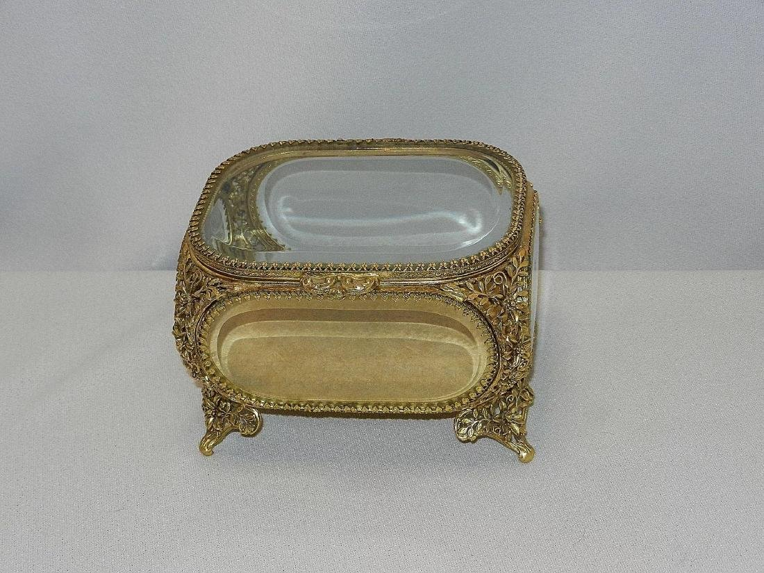 Vintage Matson 22Kt Gold Plated Filigree and Beveled - 4
