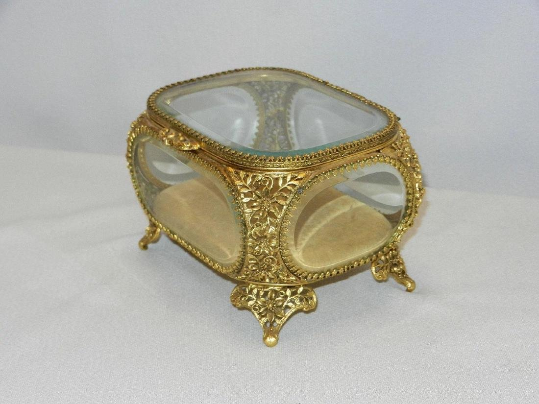 Vintage Matson 22Kt Gold Plated Filigree and Beveled - 5