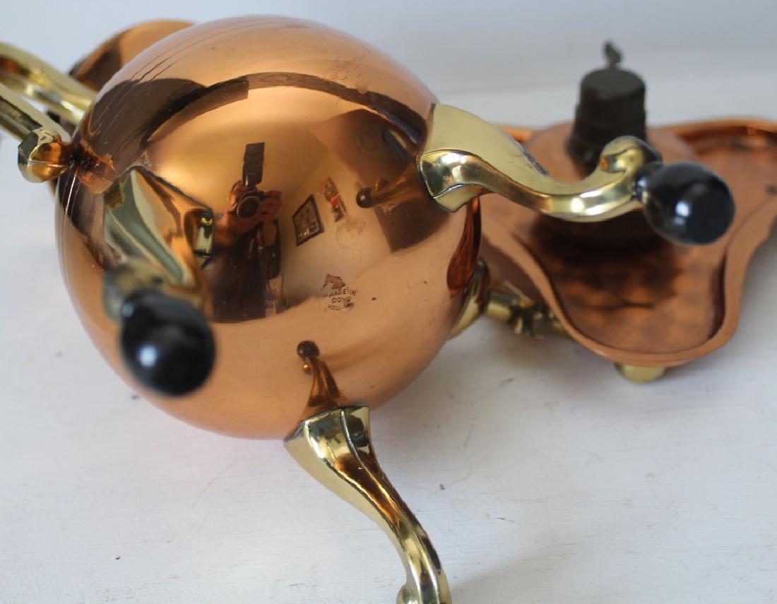 Red copper Dutch Samowar - 3