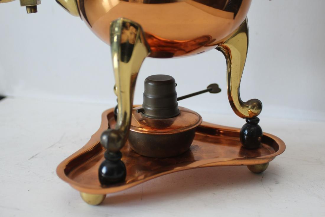 Red copper Dutch Samowar - 4