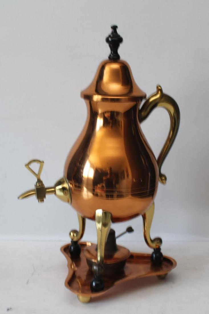 Red copper Dutch Samowar - 5