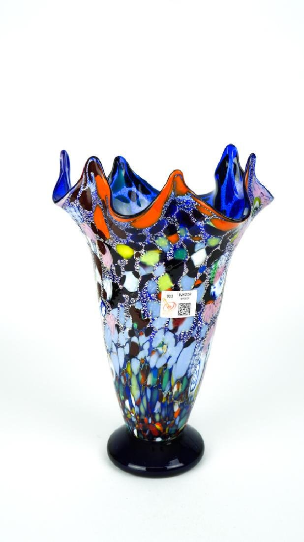 MURANO GLASS VASE FANTASY BLUE - 2
