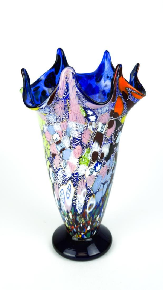 MURANO GLASS VASE FANTASY BLUE - 4