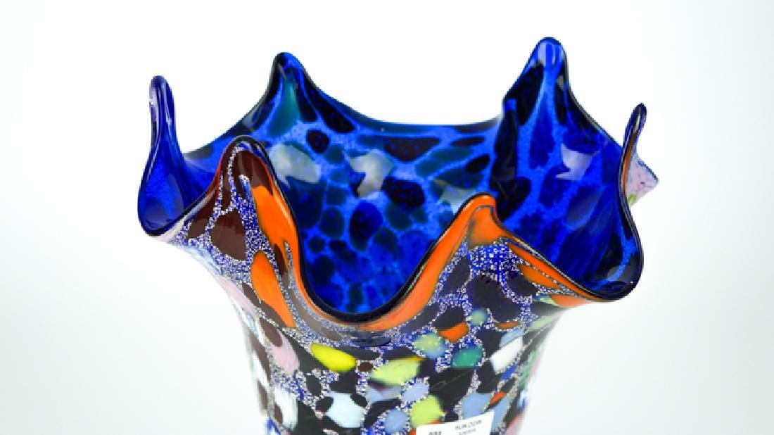 MURANO GLASS VASE FANTASY BLUE - 5