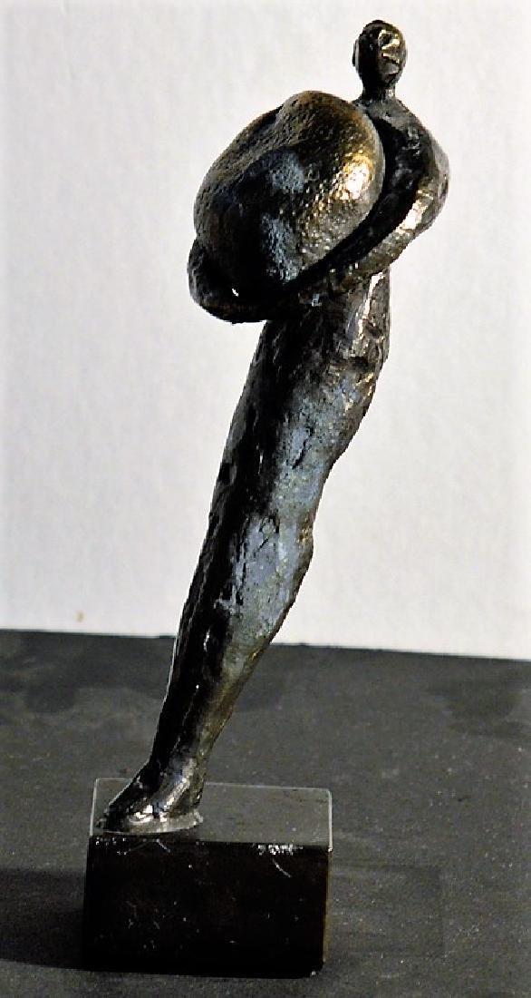 Herman van den Broek Man with stone - 2