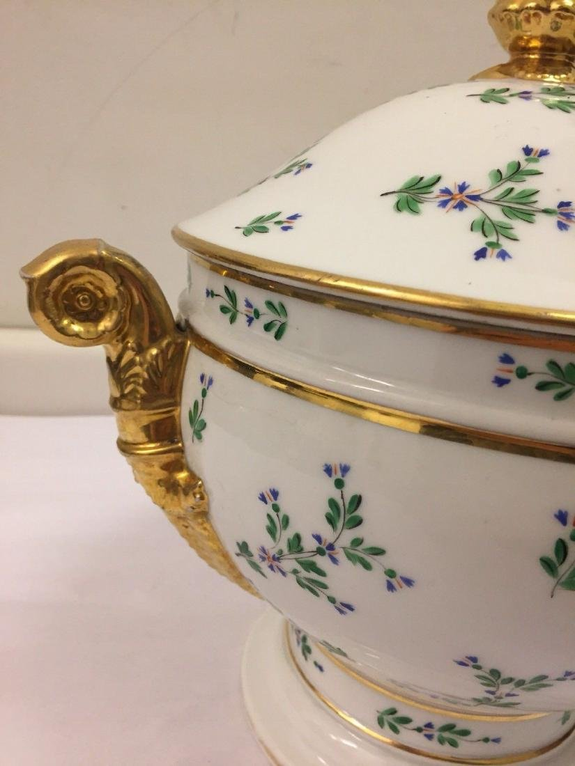 Paris Porcelain Gilt And Enameled Covered Tureen, 1810 - 10