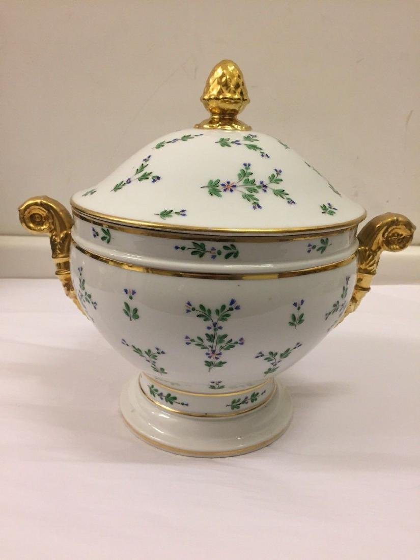 Paris Porcelain Gilt And Enameled Covered Tureen, 1810