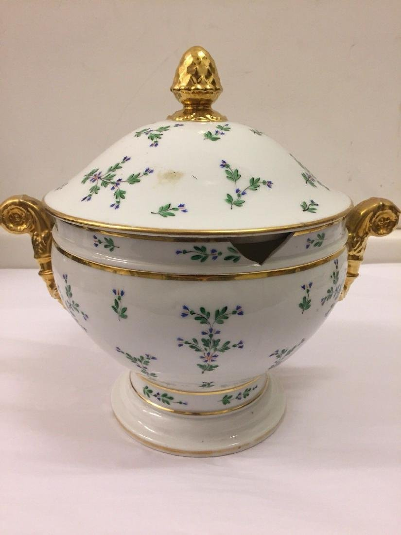 Paris Porcelain Gilt And Enameled Covered Tureen, 1810 - 6