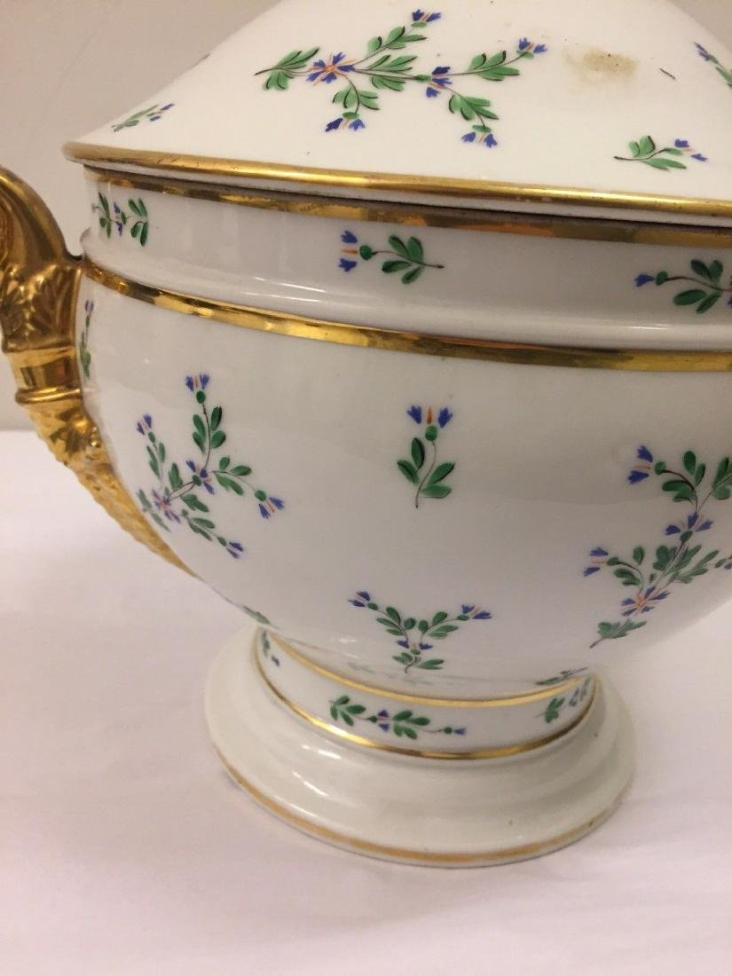 Paris Porcelain Gilt And Enameled Covered Tureen, 1810 - 9