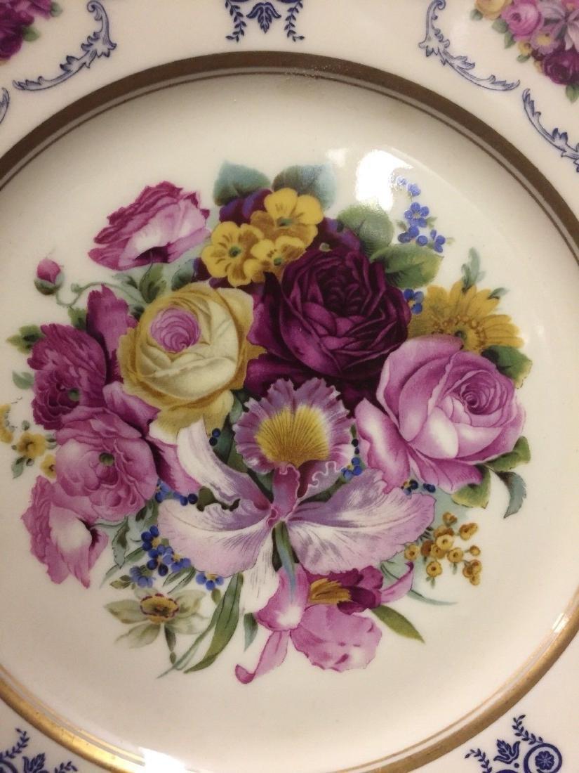 Antique Bavarian Floral Decorated Dessert Plates, 1900 - 2