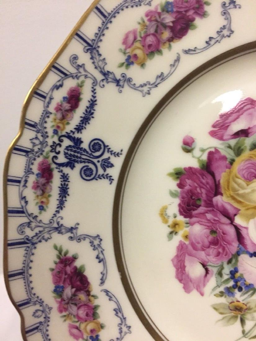 Antique Bavarian Floral Decorated Dessert Plates, 1900 - 3
