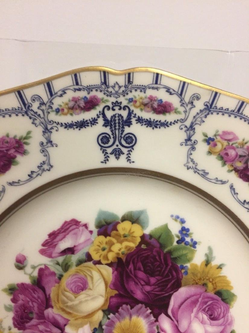 Antique Bavarian Floral Decorated Dessert Plates, 1900 - 4