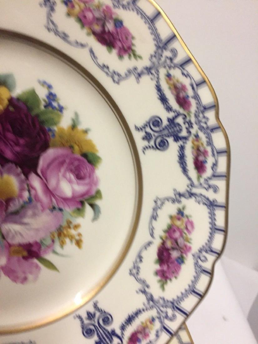 Antique Bavarian Floral Decorated Dessert Plates, 1900 - 5