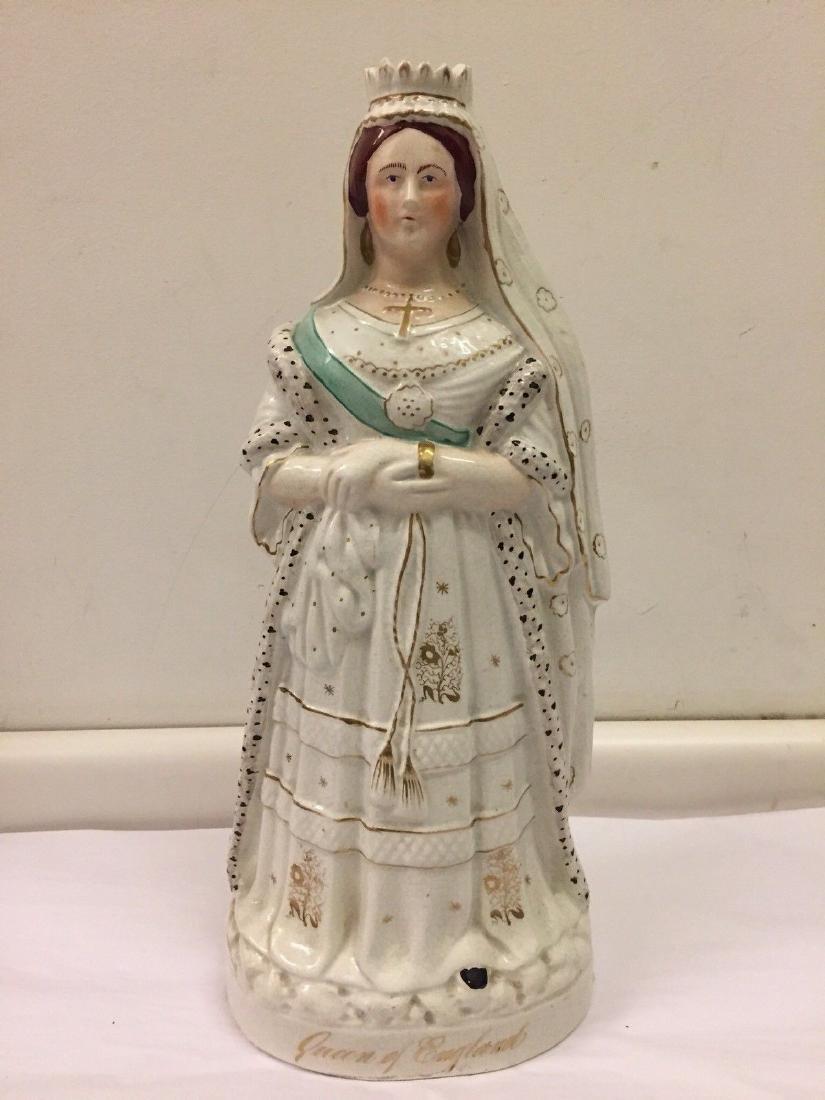 Staffordshire Pearlware Figure of Queen Victoria, 1890