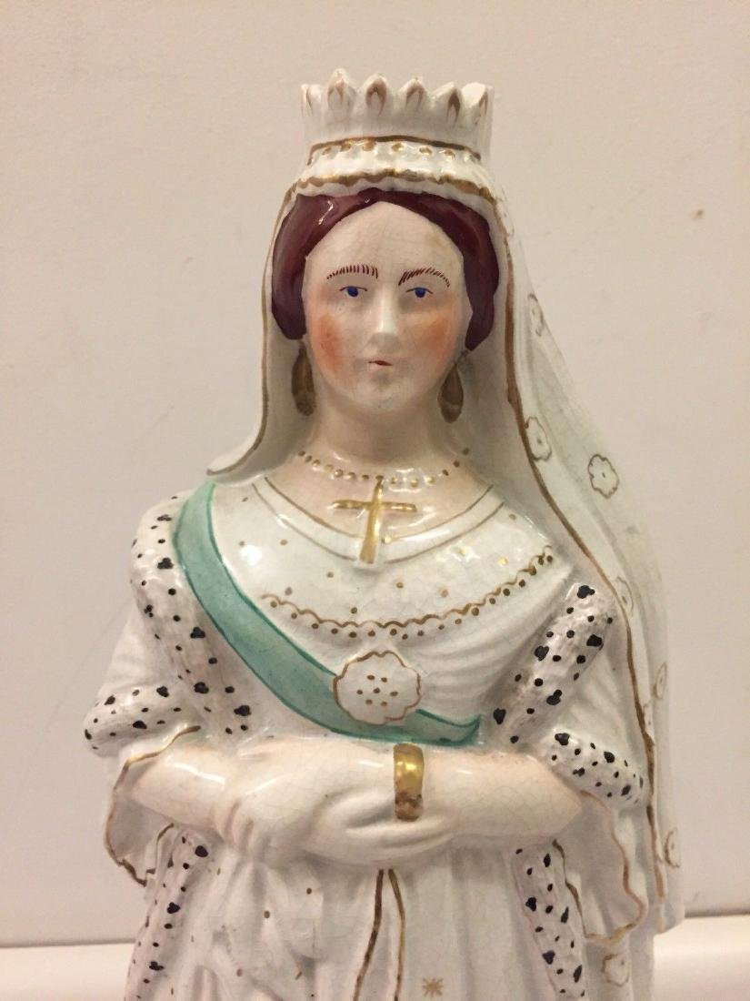 Staffordshire Pearlware Figure of Queen Victoria, 1890 - 2