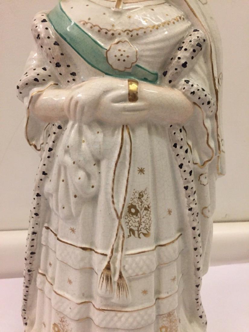 Staffordshire Pearlware Figure of Queen Victoria, 1890 - 3