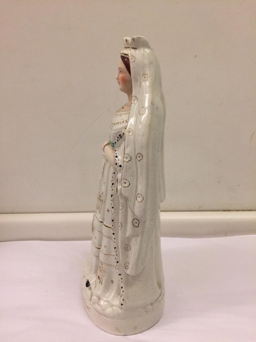 Staffordshire Pearlware Figure of Queen Victoria, 1890 - 5