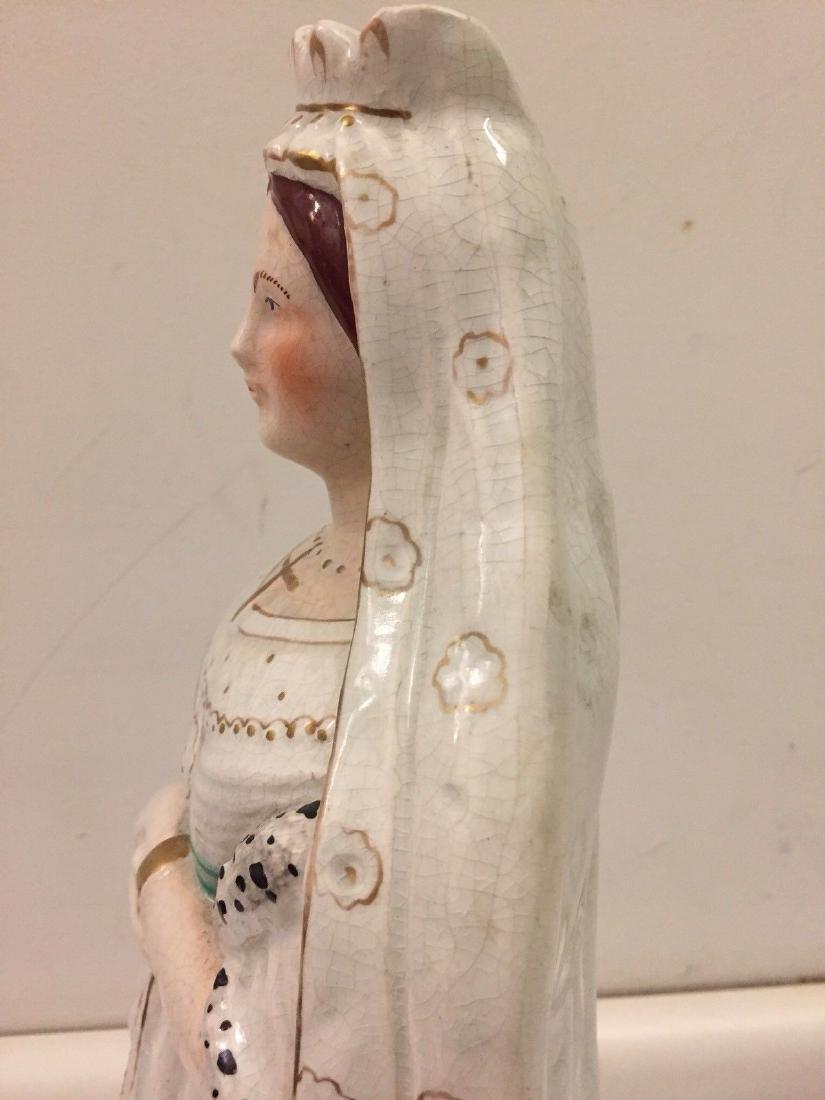 Staffordshire Pearlware Figure of Queen Victoria, 1890 - 6