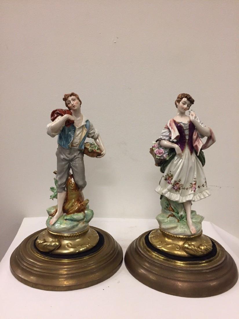 Pair Of Continental Porcelain Figures, Circa 1900