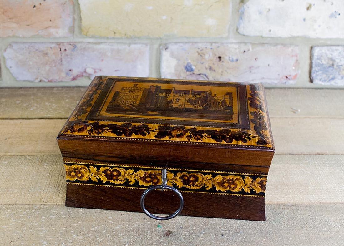 Rare collectors Tunbridge ware work box c.1870