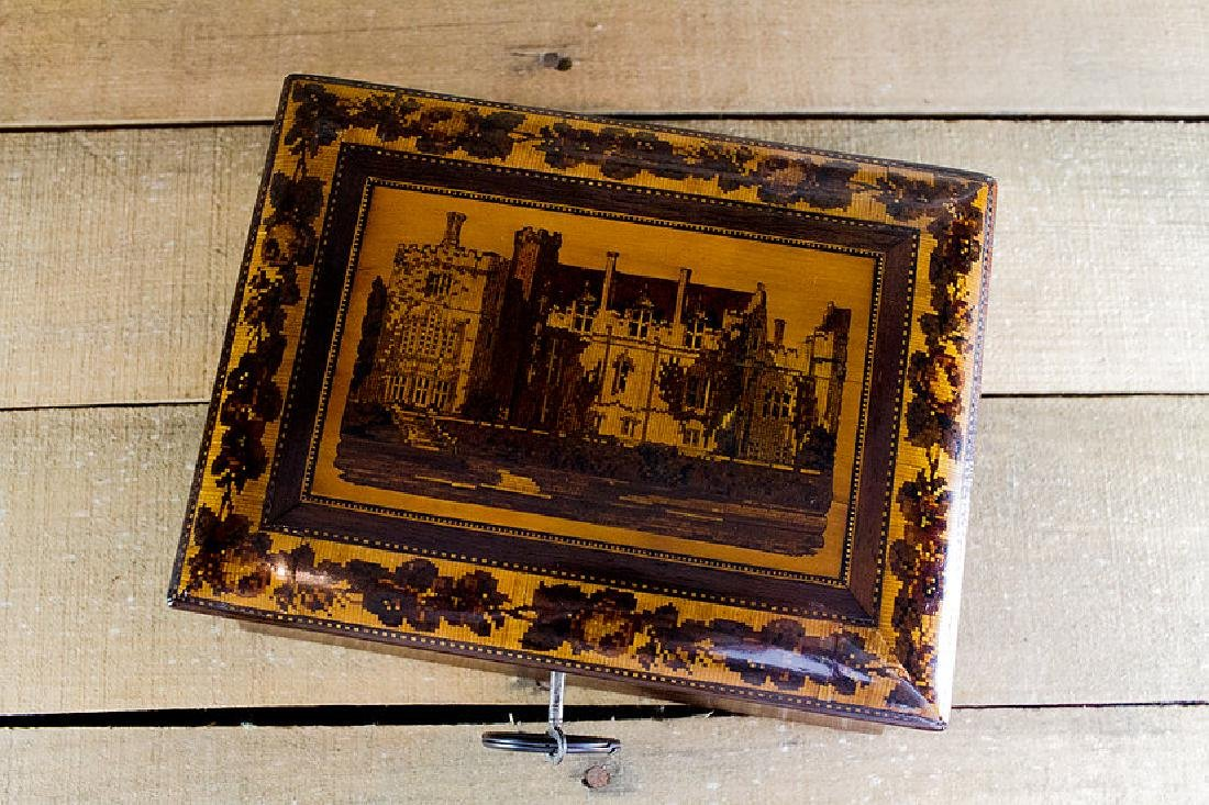 Rare collectors Tunbridge ware work box c.1870 - 2