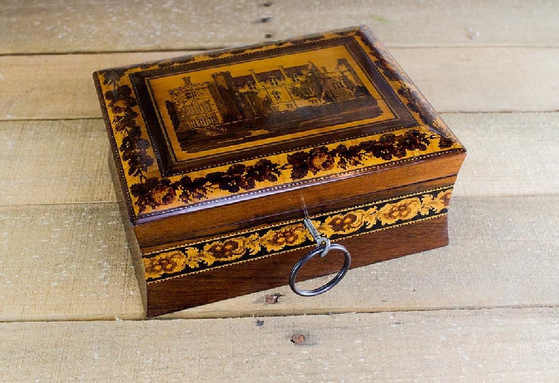 Rare collectors Tunbridge ware work box c.1870 - 3