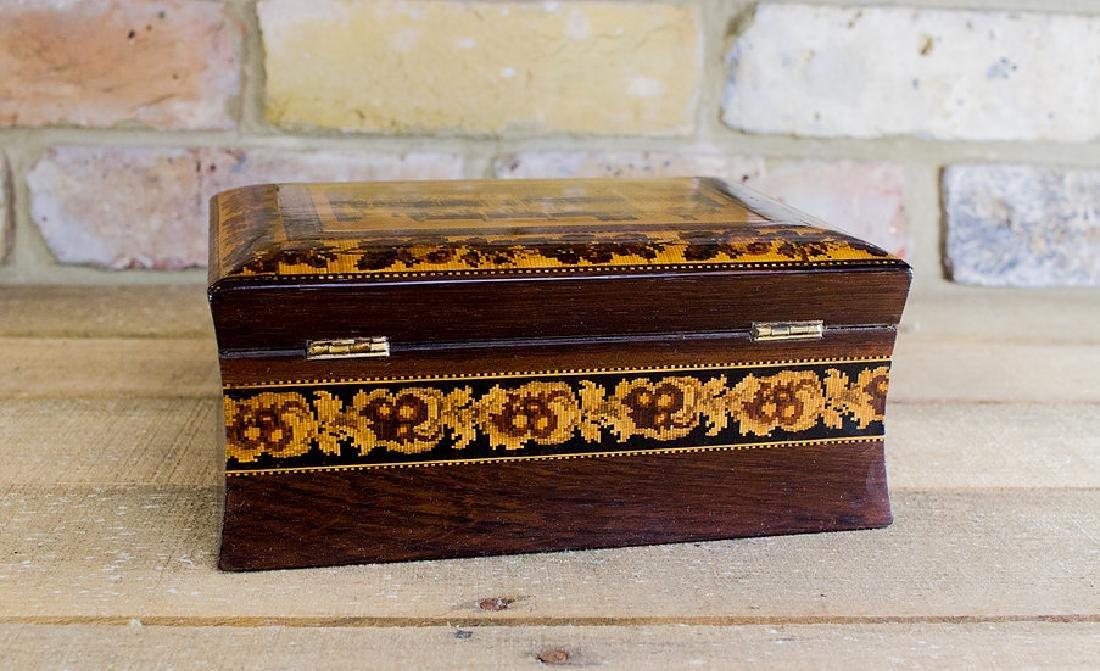 Rare collectors Tunbridge ware work box c.1870 - 4