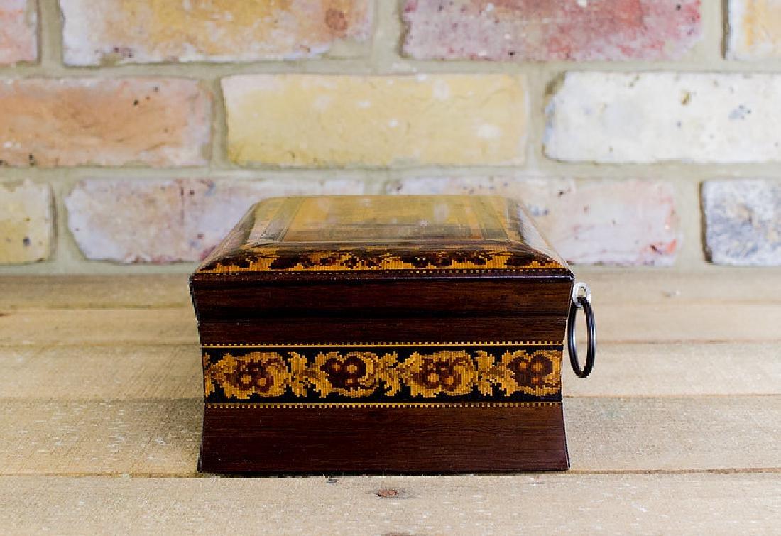 Rare collectors Tunbridge ware work box c.1870 - 5