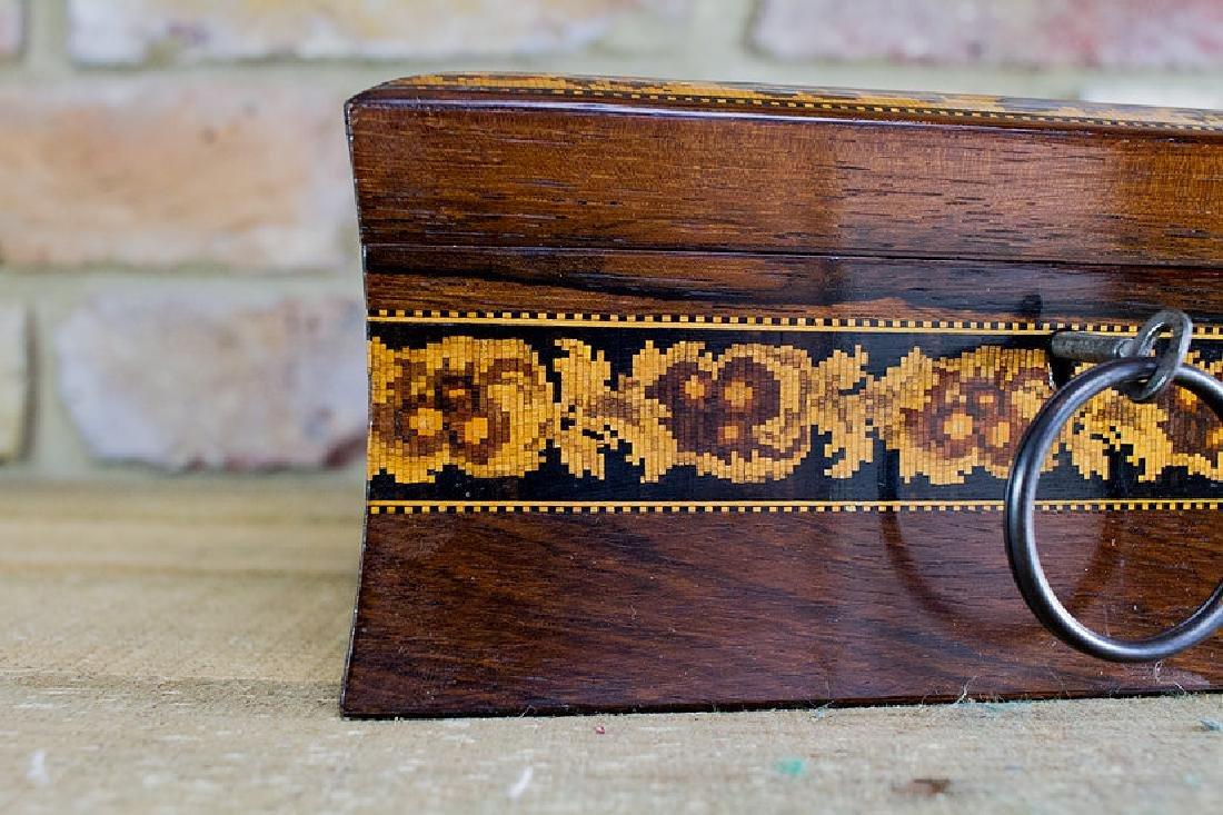 Rare collectors Tunbridge ware work box c.1870 - 6